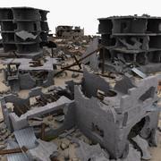 Zestaw modułowy Ruiny miasta 3d model