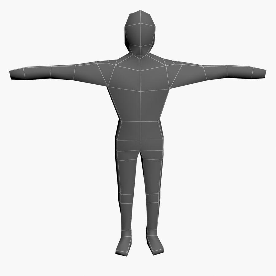 Низкополигональный картонный персонаж royalty-free 3d model - Preview no. 8