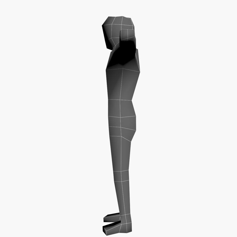 Низкополигональный картонный персонаж royalty-free 3d model - Preview no. 9
