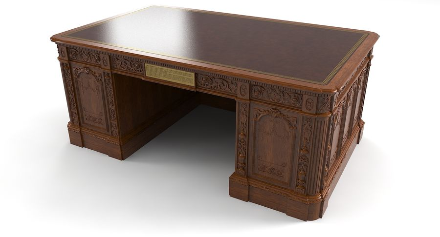 Resolute Desk royalty-free 3d model - Preview no. 5