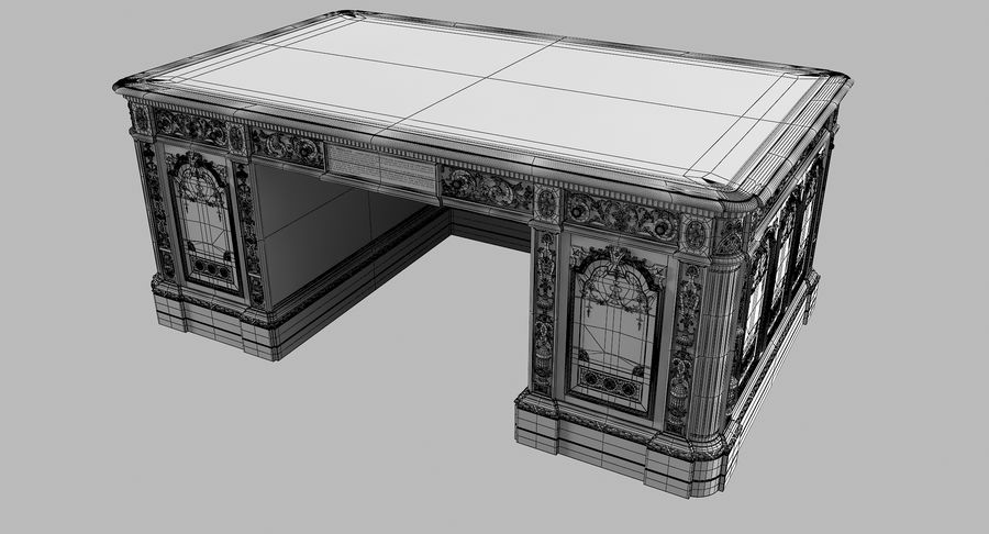 Resolute Desk royalty-free 3d model - Preview no. 12