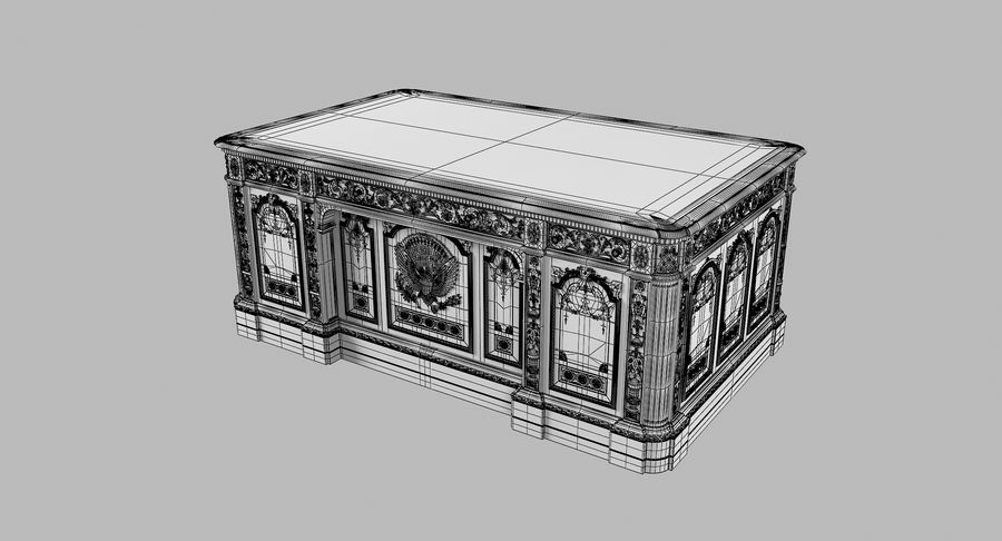 Resolute Desk royalty-free 3d model - Preview no. 10