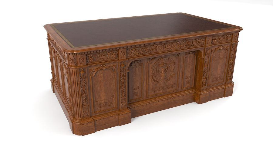 Resolute Desk royalty-free 3d model - Preview no. 4