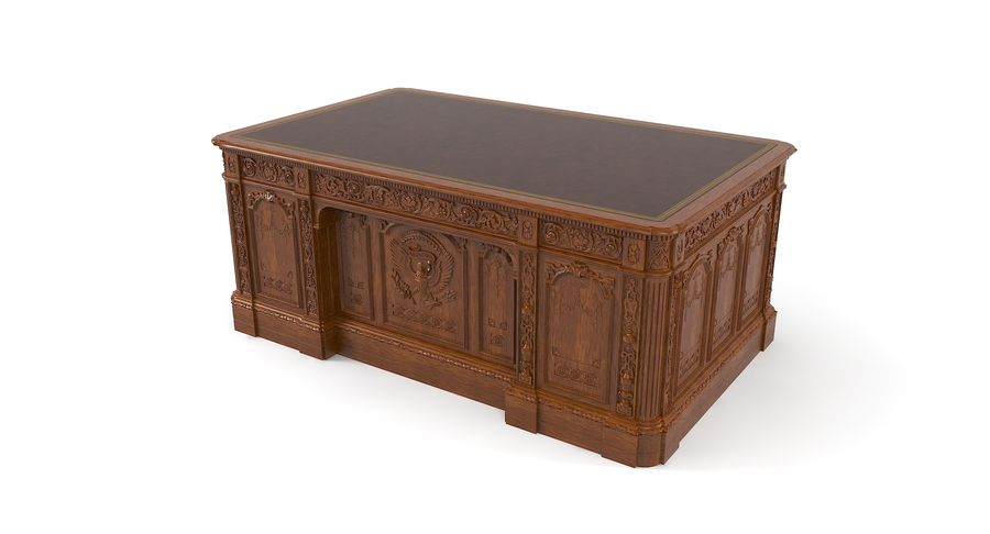 Resolute Desk royalty-free 3d model - Preview no. 3