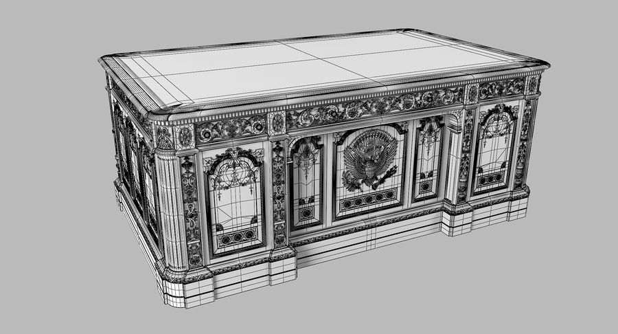 Resolute Desk royalty-free 3d model - Preview no. 11