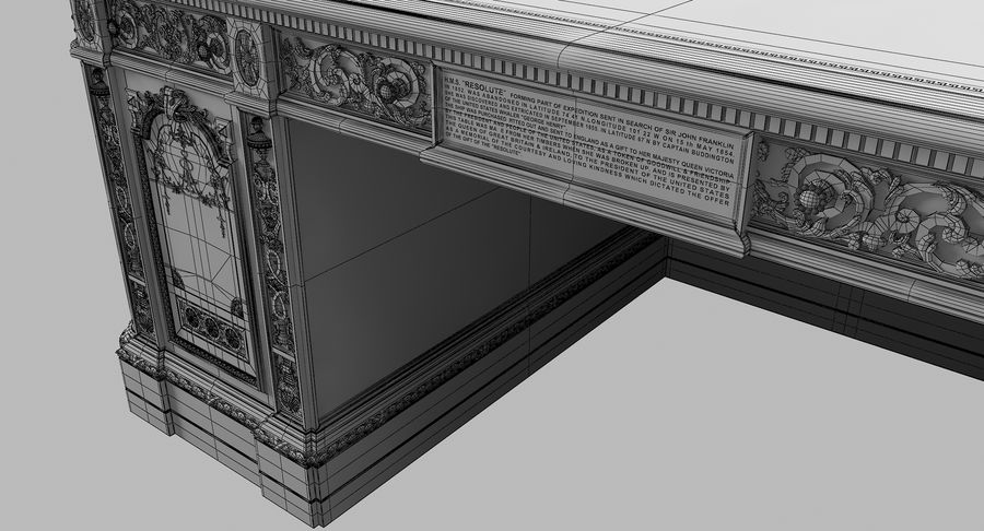 Resolute Desk royalty-free 3d model - Preview no. 13