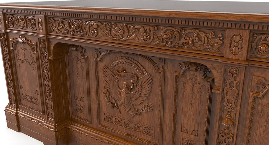 Resolute Desk royalty-free 3d model - Preview no. 8