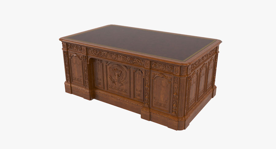 Resolute Desk royalty-free 3d model - Preview no. 2