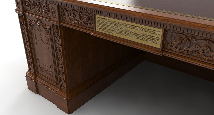 Resolute Desk royalty-free 3d model - Preview no. 6
