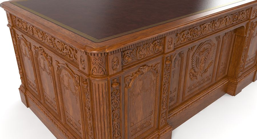 Resolute Desk royalty-free 3d model - Preview no. 7