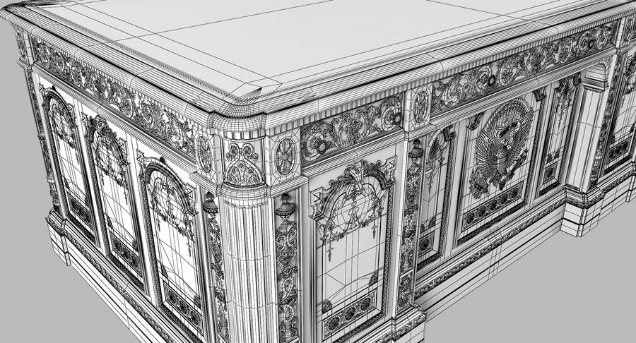 Resolute Desk royalty-free 3d model - Preview no. 14
