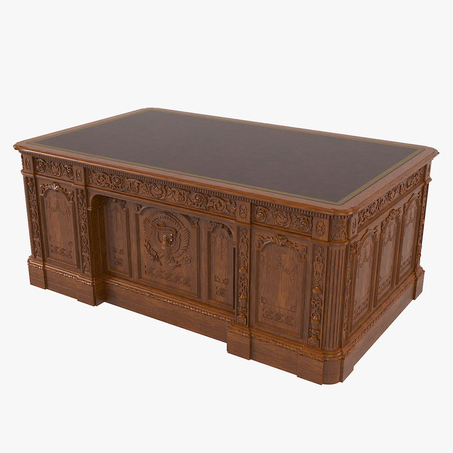 Resolute Desk royalty-free 3d model - Preview no. 1