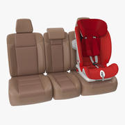 Child Safety Seat on Car Seat 3d model