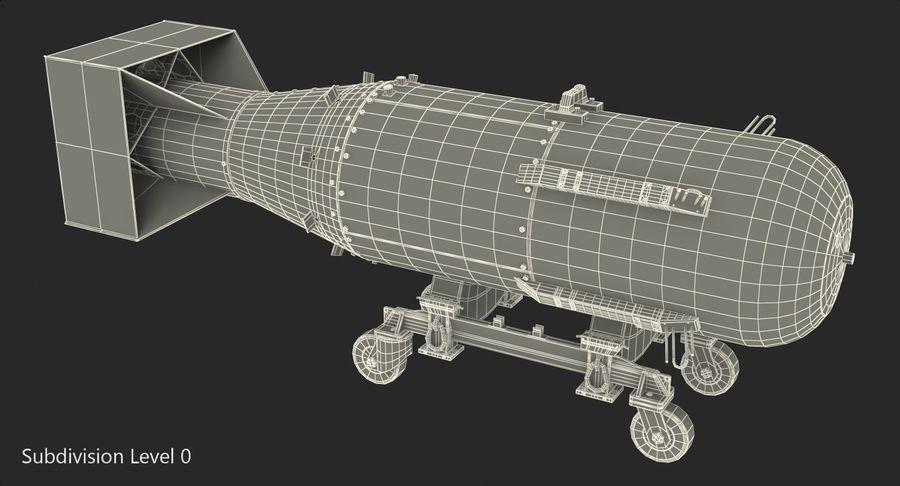 Bombe nucléaire de petit garçon sur le chariot royalty-free 3d model - Preview no. 12