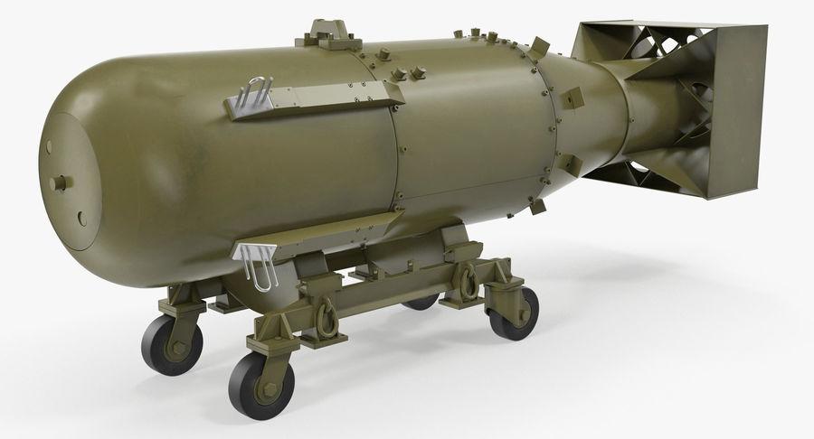 Bombe nucléaire de petit garçon sur le chariot royalty-free 3d model - Preview no. 5