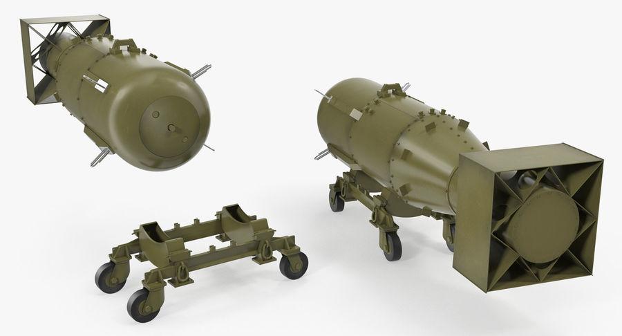 Bombe nucléaire de petit garçon sur le chariot royalty-free 3d model - Preview no. 4