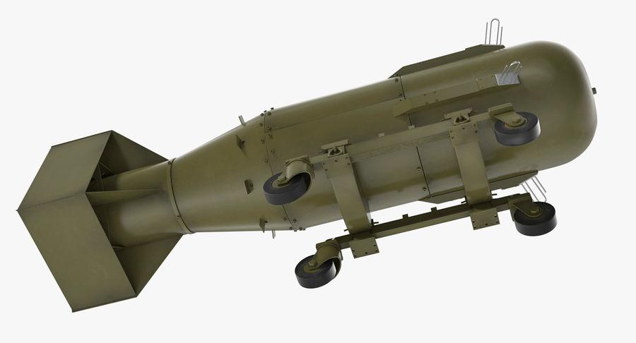 Bombe nucléaire de petit garçon sur le chariot royalty-free 3d model - Preview no. 7