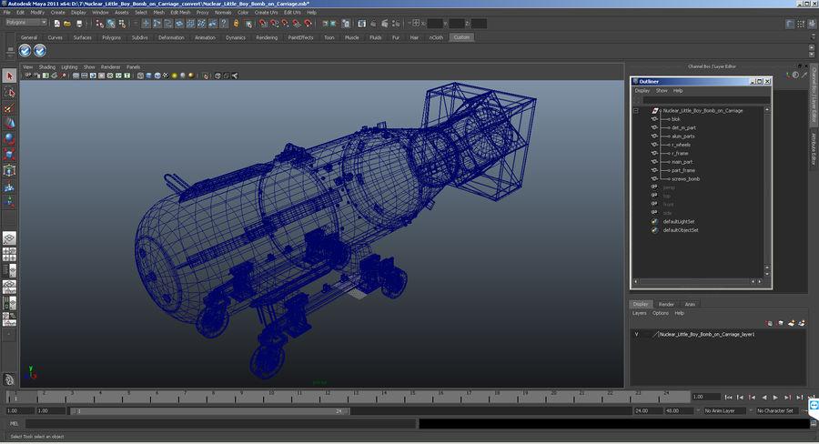 Bombe nucléaire de petit garçon sur le chariot royalty-free 3d model - Preview no. 16