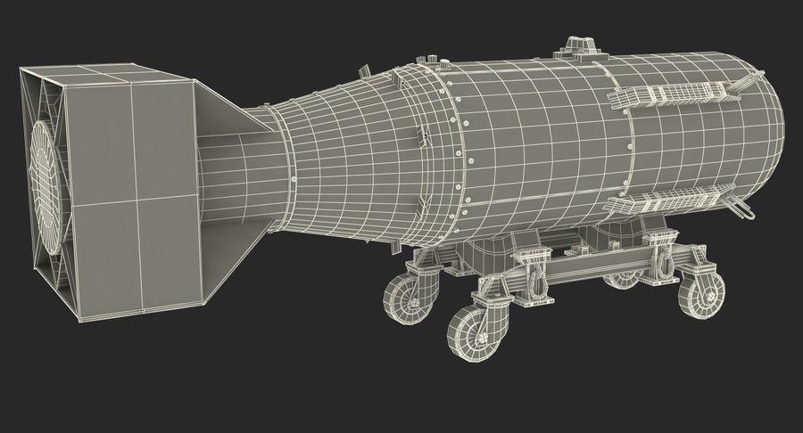 Bombe nucléaire de petit garçon sur le chariot royalty-free 3d model - Preview no. 19