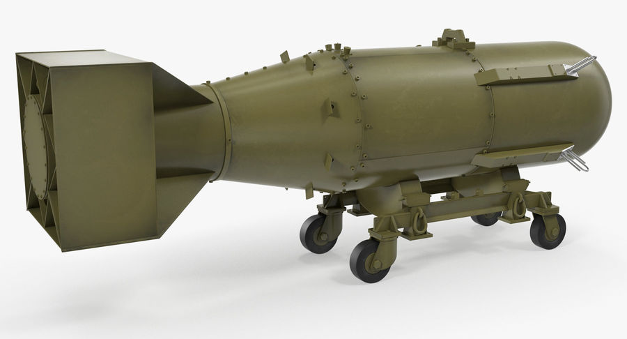 Bombe nucléaire de petit garçon sur le chariot royalty-free 3d model - Preview no. 3