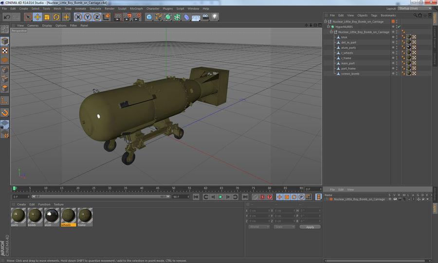 Bombe nucléaire de petit garçon sur le chariot royalty-free 3d model - Preview no. 17