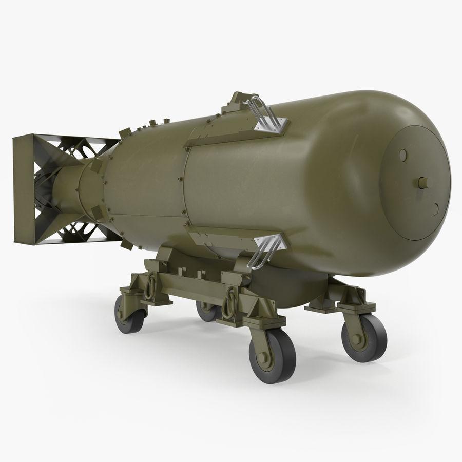 Bombe nucléaire de petit garçon sur le chariot royalty-free 3d model - Preview no. 1