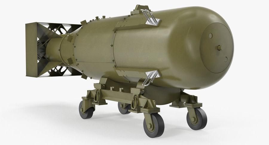 Bombe nucléaire de petit garçon sur le chariot royalty-free 3d model - Preview no. 2