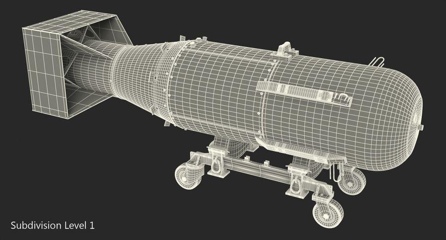 Bombe nucléaire de petit garçon sur le chariot royalty-free 3d model - Preview no. 13