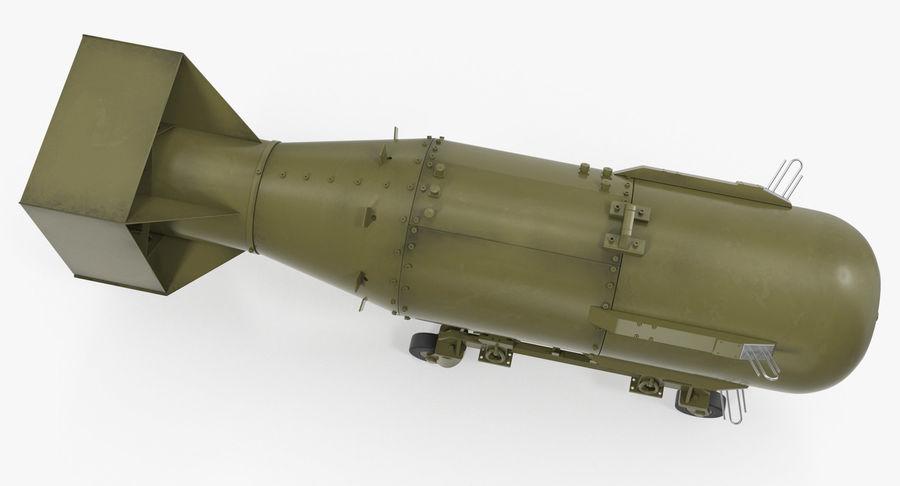 Bombe nucléaire de petit garçon sur le chariot royalty-free 3d model - Preview no. 6