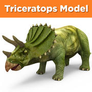 Triceratops 3D Models game ready low poly model 3d model
