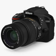 Fotokamera Nikon D3300 3d model