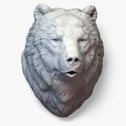 Escultura de cabeça de urso calma 3d model