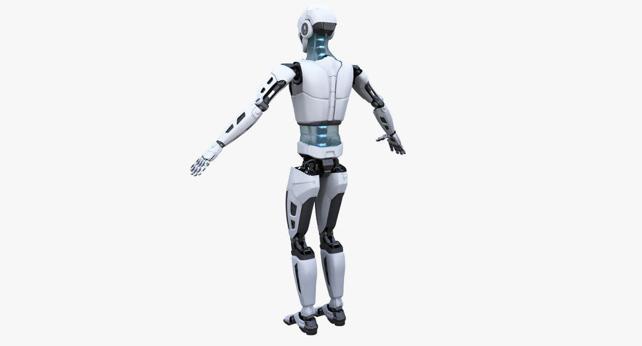 Android Robot Man royalty-free 3d model - Preview no. 12