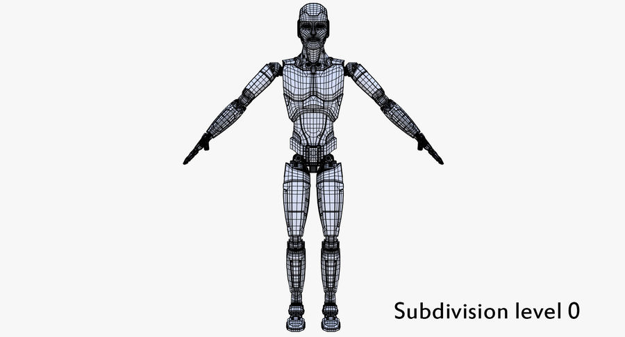 Android Robot Man royalty-free 3d model - Preview no. 27