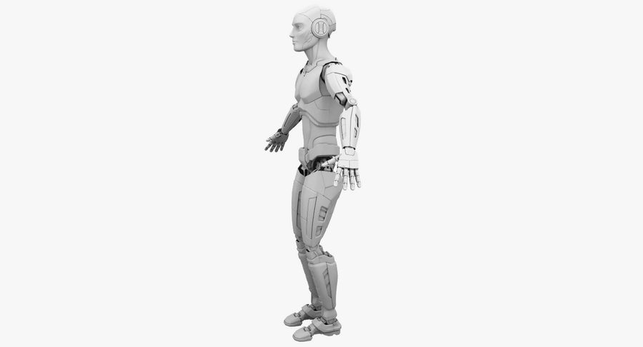 Android Robot Man royalty-free 3d model - Preview no. 19