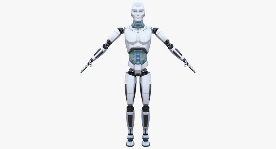 Android Robot Man royalty-free 3d model - Preview no. 14