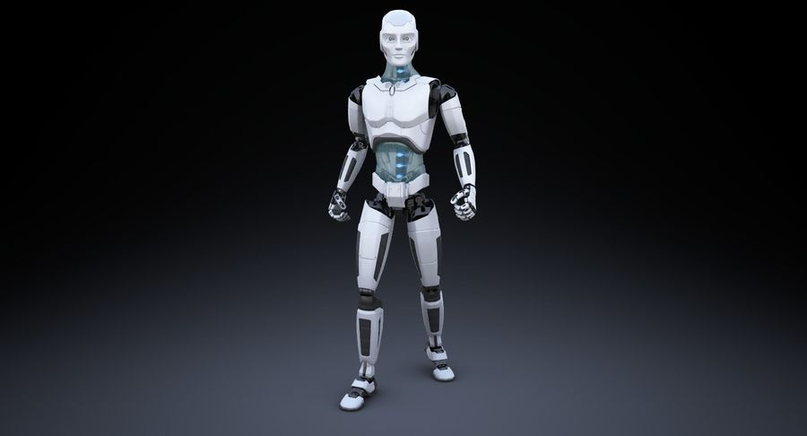 Android Robot Man royalty-free 3d model - Preview no. 2