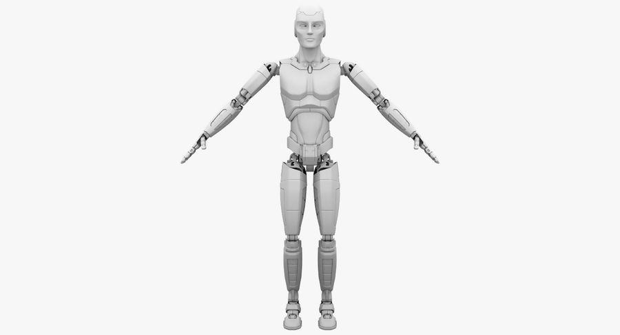 Android Robot Man royalty-free 3d model - Preview no. 20