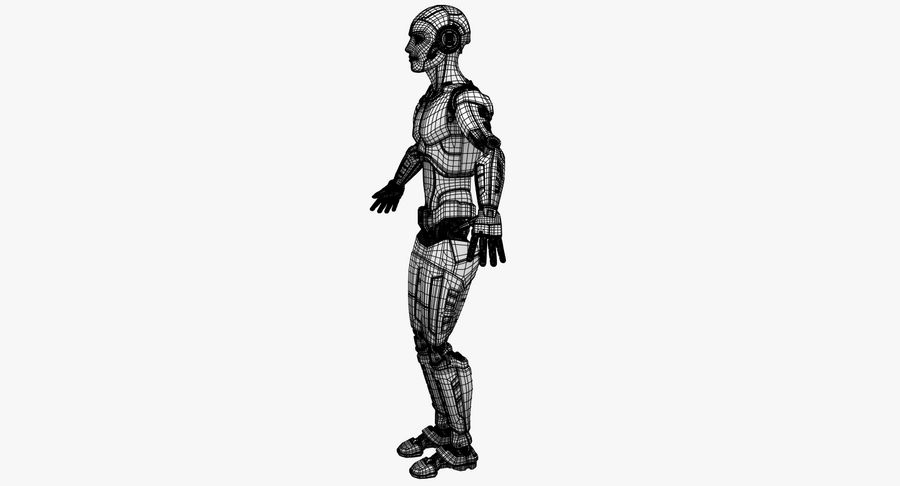 Android Robot Man royalty-free 3d model - Preview no. 25