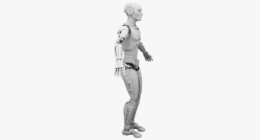 Android Robot Man royalty-free 3d model - Preview no. 16