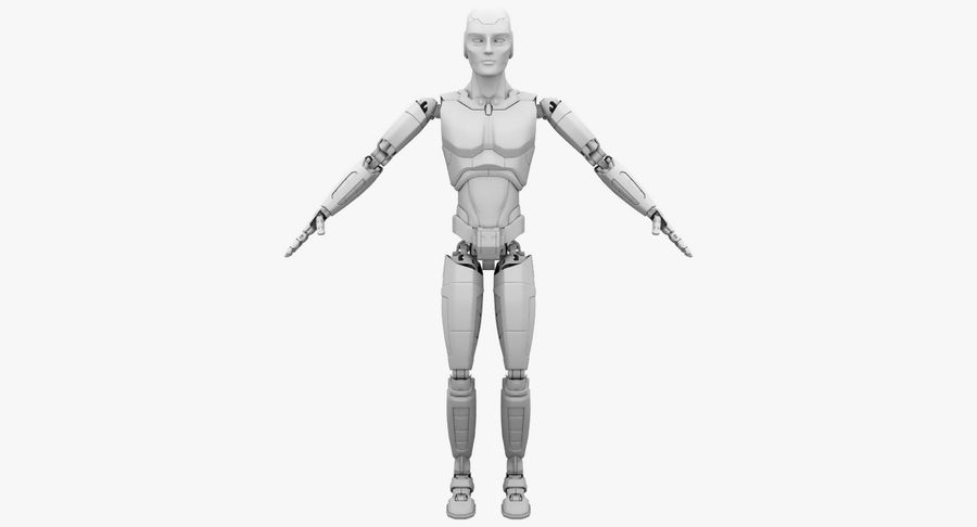 Android Robot Man royalty-free 3d model - Preview no. 15