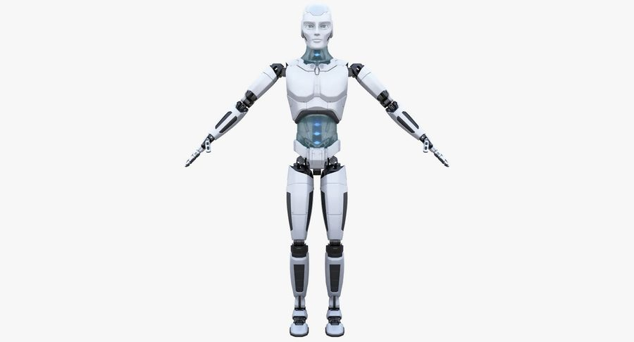 Android Robot Man royalty-free 3d model - Preview no. 9