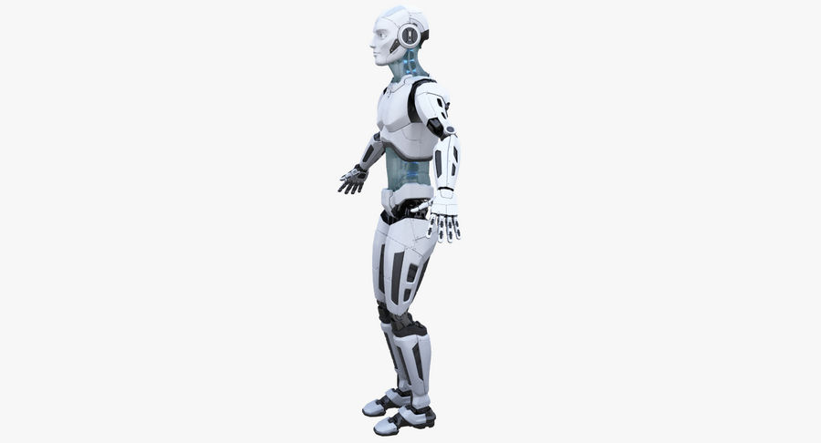 Android Robot Man royalty-free 3d model - Preview no. 13