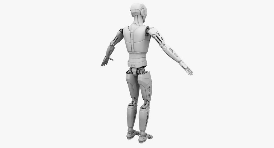 Android Robot Man royalty-free 3d model - Preview no. 17