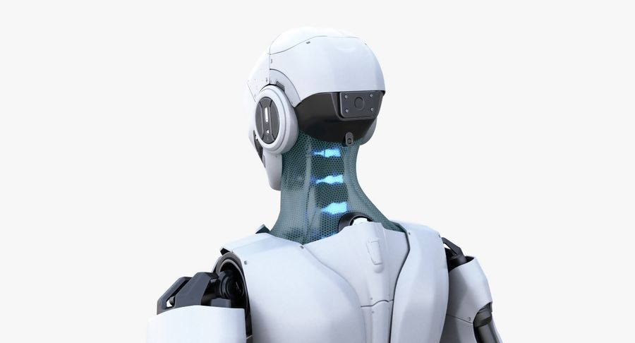 Android Robot Man royalty-free 3d model - Preview no. 5