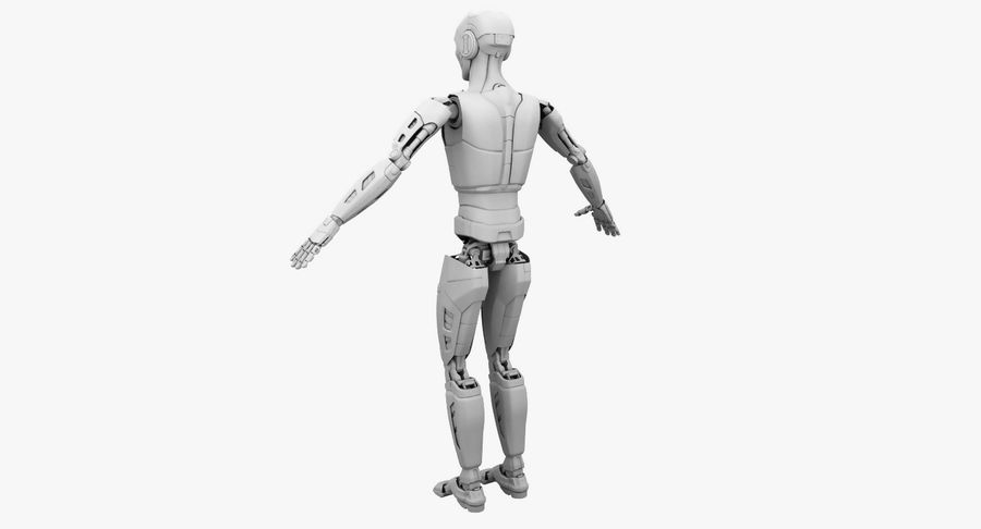 Android Robot Man royalty-free 3d model - Preview no. 18