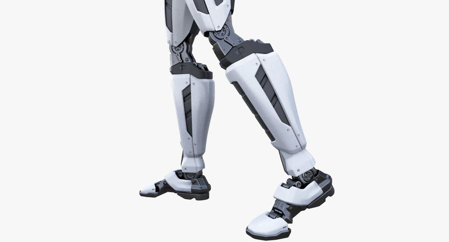 Android Robot Man royalty-free 3d model - Preview no. 8