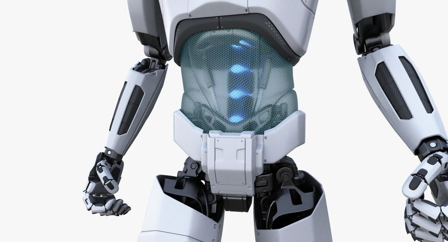 Android Robot Man royalty-free 3d model - Preview no. 6