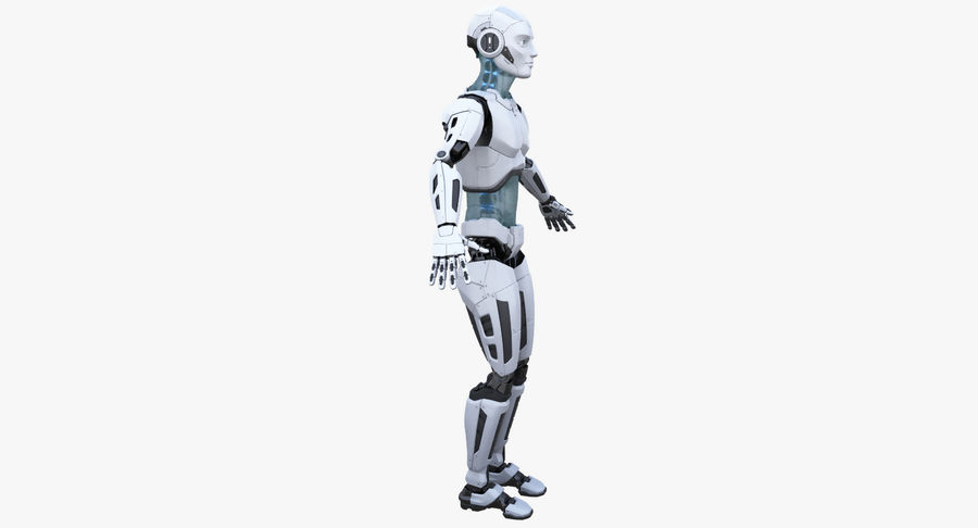 Android Robot Man royalty-free 3d model - Preview no. 10