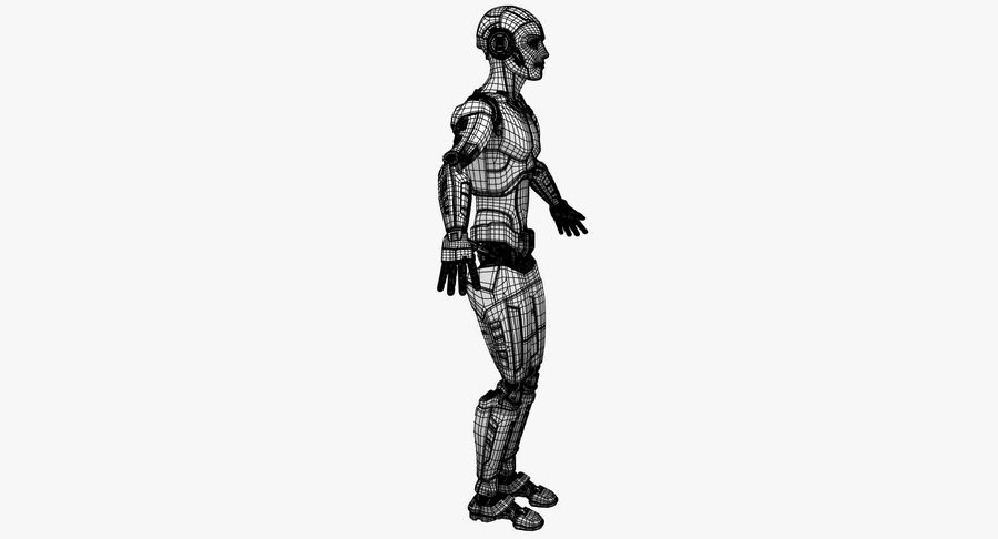 Android Robot Man royalty-free 3d model - Preview no. 22